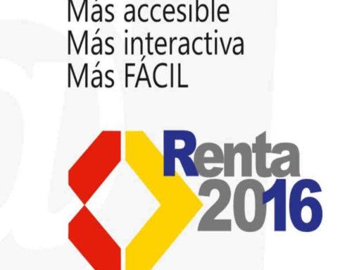 Renta 2016: Plazos y presentación del impuesto