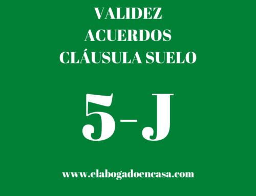 9-J: TJUE resolverá sobre la validez de los acuerdos por cláusula suelo