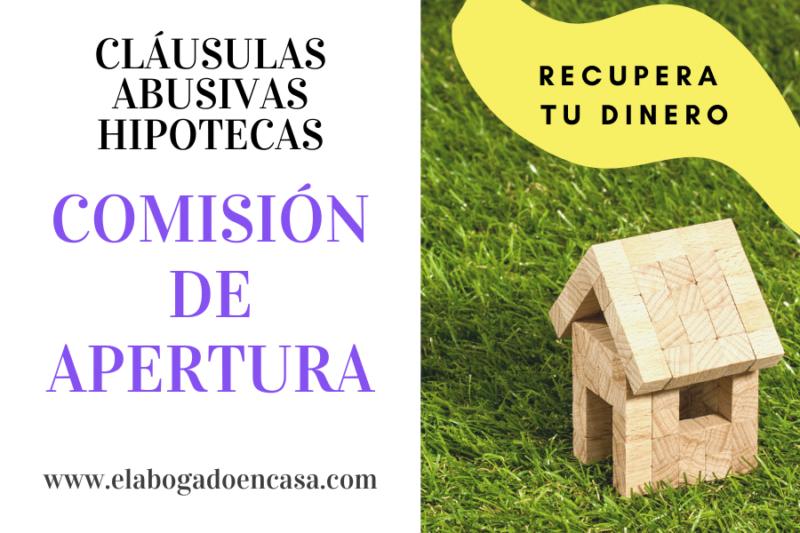 comision apertura hipoteca