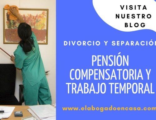 ¿ Es compatible trabajar a tiempo parcial y tener derecho a una pension compensatoria?