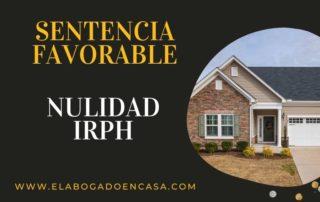 nulidad irph hipoteca
