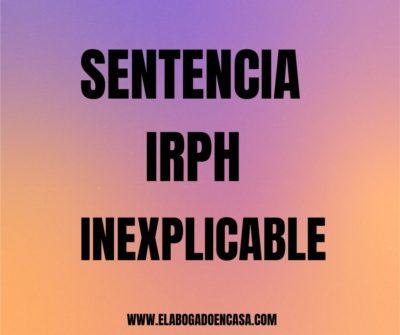 sentencia irph