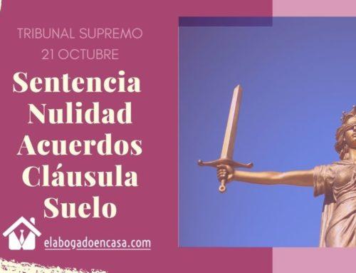 Acuerdos sobre clausula suelo: el Supremo decidirá el 21 de octubre
