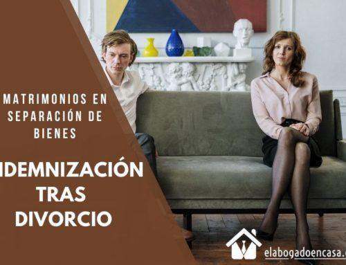Indemnización tras divorcio en matrimonios en separacion de bienes
