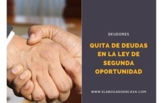acuerdo acreedores ley segunda oportunidad