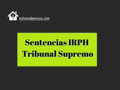sentencia irph tribunal supremo