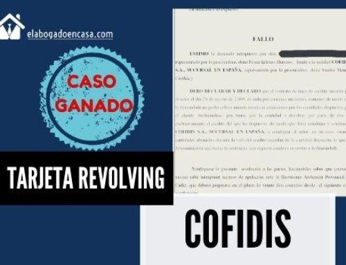Anulamos tarjeta de crédito revolving de Cofidis por interés abusivo