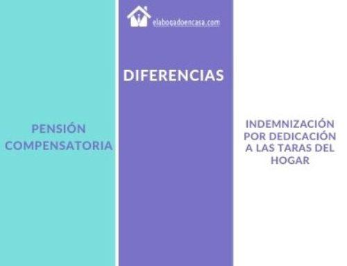 Diferencias entre pensión compensatoria e indemnización por dedicación a las tareas del hogar