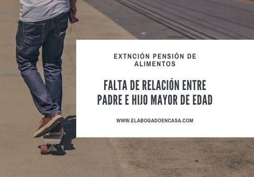 extincion pension alimentos