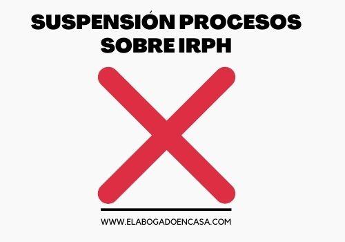 suspension irph